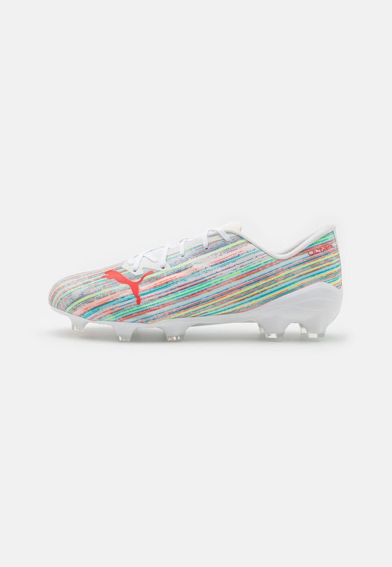 Puma - ULTRA 2.2 FG/AG - Moulded stud football boots - white/red blast