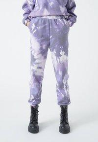 PULL&BEAR - Tracksuit bottoms - purple - 0