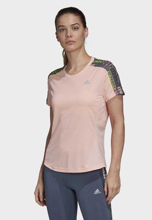 OWN THE RUN URBAN T-SHIRT - T-shirt z nadrukiem - pink