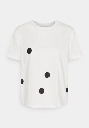DOTTED PRINT - T-shirt con stampa - white/black