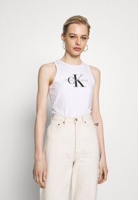 Calvin Klein Jeans - MONOGRAM STRETCH SPORTY TANK - Top - bright white - 0