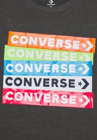 Converse - COLOURBLOCKED LOGO TEE - Print T-shirt - charcoal grey heather