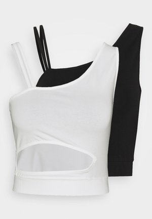 CROPPED CUTOUT 2 PACK - Top - black/white