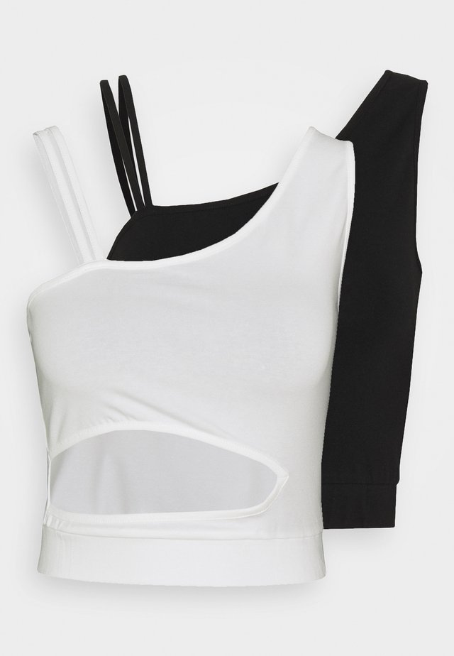 CROPPED CUTOUT 2 PACK - Linne - black/white