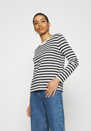 SLFSTANDARD TEE  - Long sleeved top - black/snow white