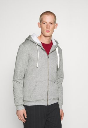Zip-up hoodie - stone mix