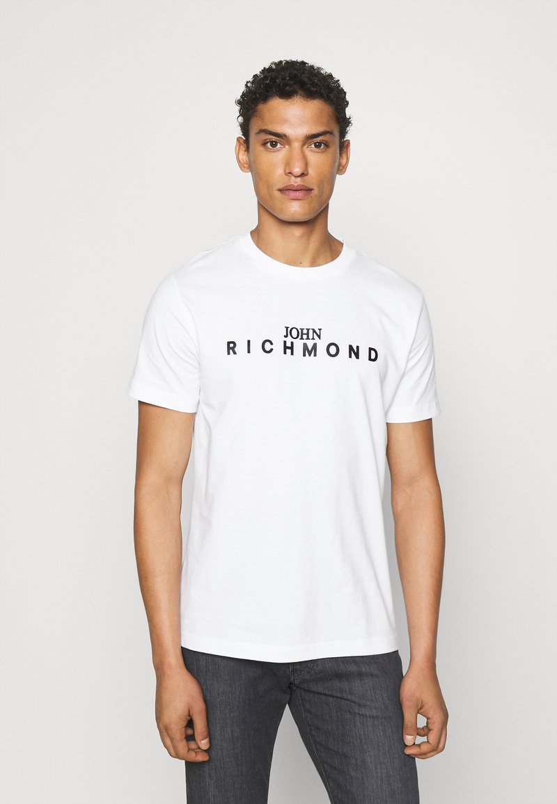 John Richmond - TOLIMA REGULAR - Print T-shirt - white