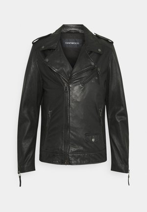 SOLDIER - Leather jacket - black