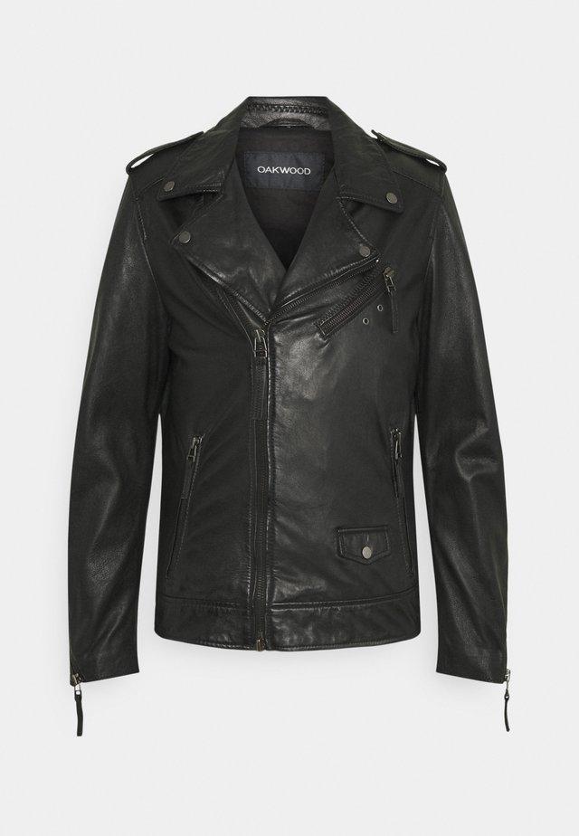 SOLDIER - Leren jas - black