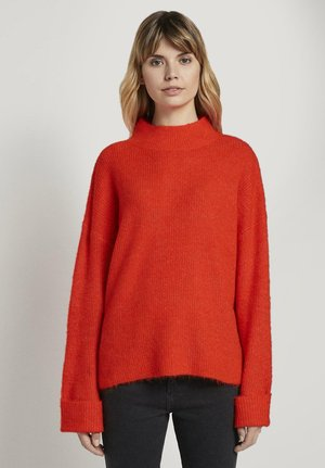 Sweter - signal red