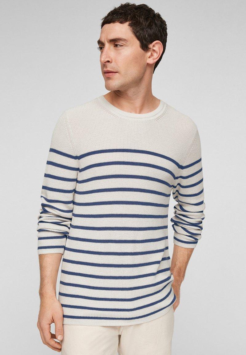 s.Oliver - TRUI - Jumper - offwhite stripes