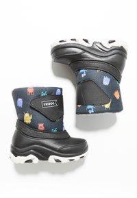 Friboo - Snowboots  - black/petrol - 0