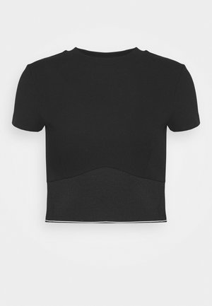 CYNTIA - Basic T-shirt - jet black