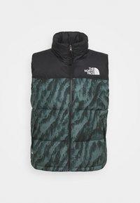 The North Face - PRINTED 1996 RETRO NUPTSE VEST UNISEX - Waistcoat - balsam green - 0