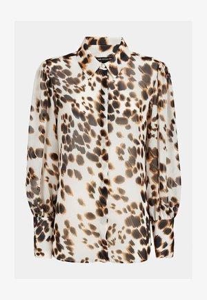 Button-down blouse - mehrfarbig, weiß