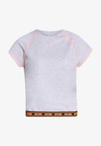 Moschino Underwear - SHORT SLEEVE - Pyjama top - gray melange - 4