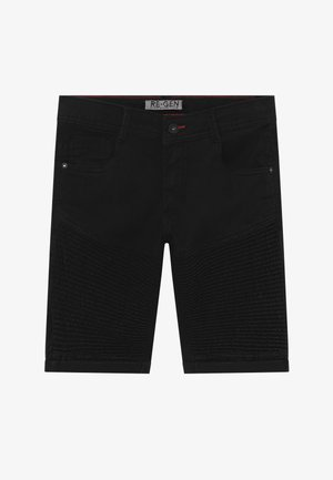 TEEN BOYS BERMUDA - Denim shorts - black