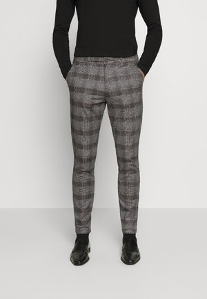 JJIMARCO JJBOWIE CHECK - Trousers - grey