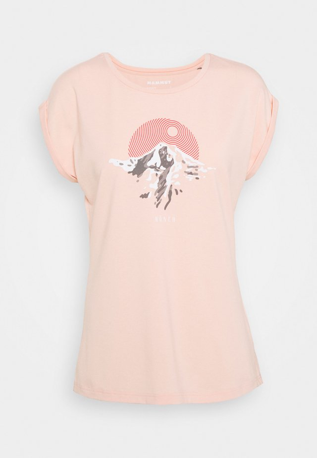 T-shirt med print - evening sand