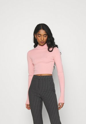 KIMBER CROPPED - Jumper - pink medium
