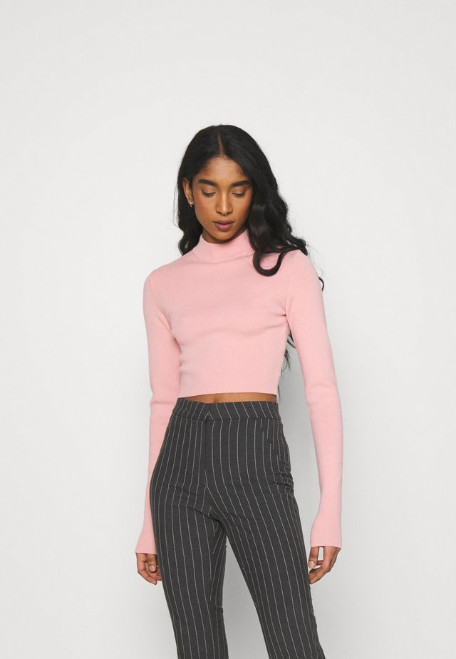 KIMBER CROPPED - Sweter - pink medium