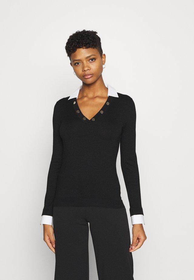 V-NECK - Pullover - noir