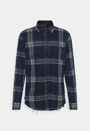 Shirt - indigo/beige