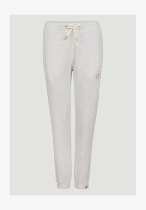 GRAPHIC - Tracksuit bottoms - white melee