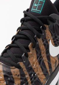 Nike Performance - AIR ZOOM CAGE - Clay court tennis shoes - wheat/metallic silver/hyper jade/desert ore/black/white - 5