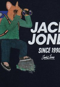 Jack & Jones Junior - SWEATSHIRT JUNGS STATEMENT-PRINT - Hoodie - navy blazer - 5