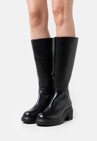 Stuart Weitzman - NORAH TALL BOOT - Platform boots - black - 0