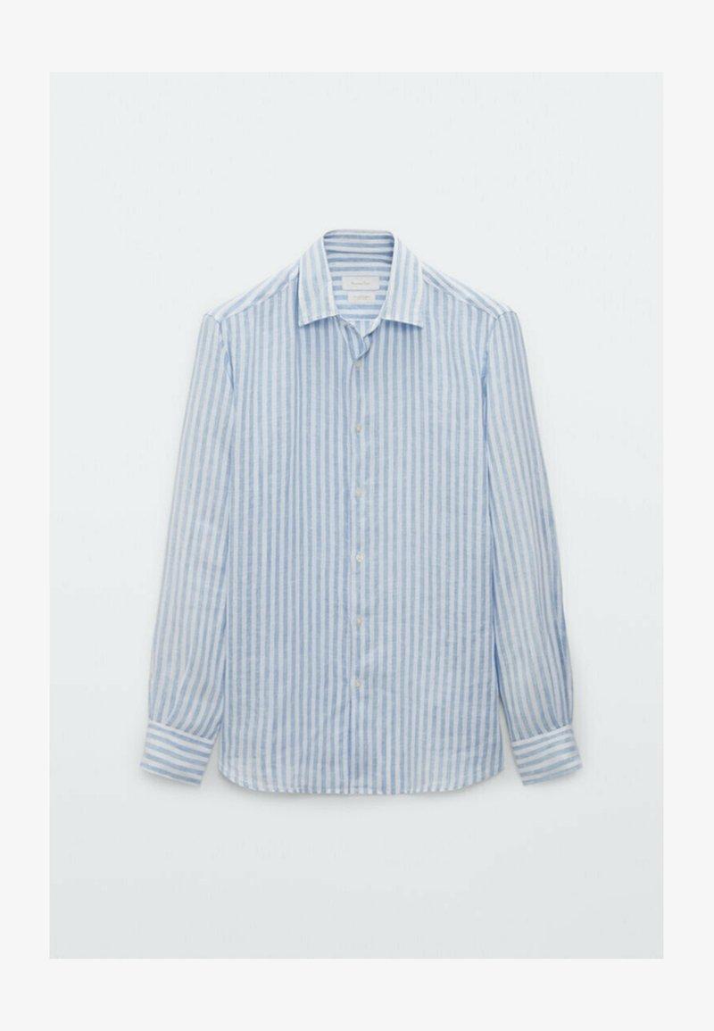 Massimo Dutti - SLIM FIT - Formal shirt - light blue