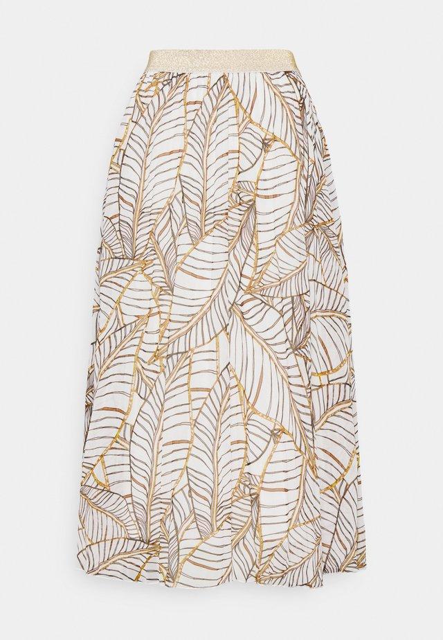 SKIRT PLISSE TERRA TROPICANA - Maxi skirt - beige