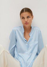 Mango - MAOSAT - Button-down blouse - blauw - 3