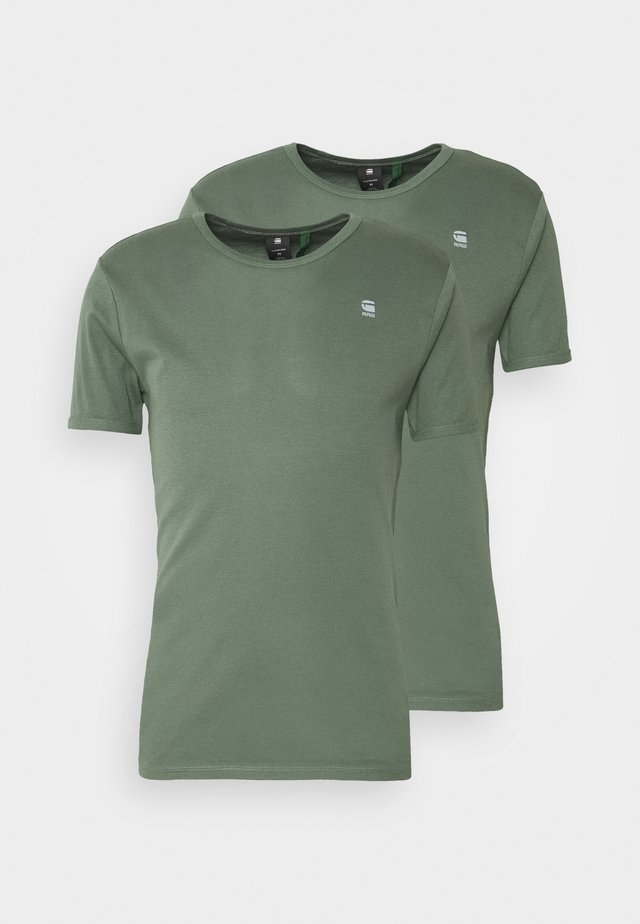 BASE 2 PACK - T-shirt basic - teal grey