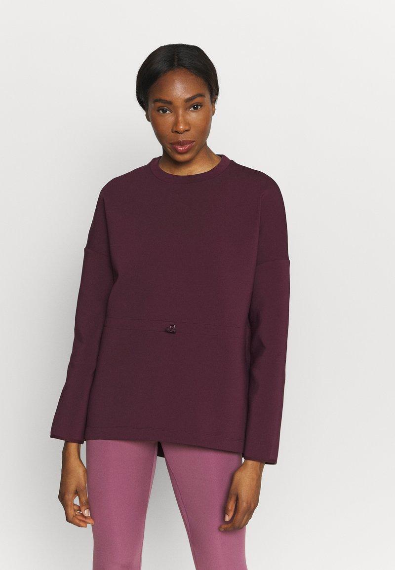 Sweaty Betty - GRACE CREW NECK  - Sweatshirt - plum red