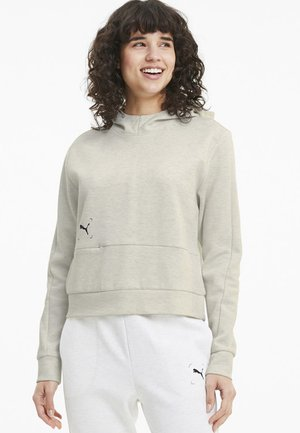 NU TILITY  - Jersey con capucha - white heather