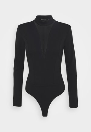 PLUNGE - Long sleeved top - black