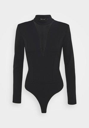 PLUNGE - Bluzka z długim rękawem - black