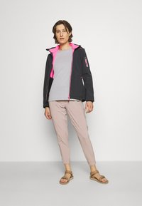 CMP - WOMAN JACKET ZIP HOOD - Giacca softshell - antracite/pink fluo - 1