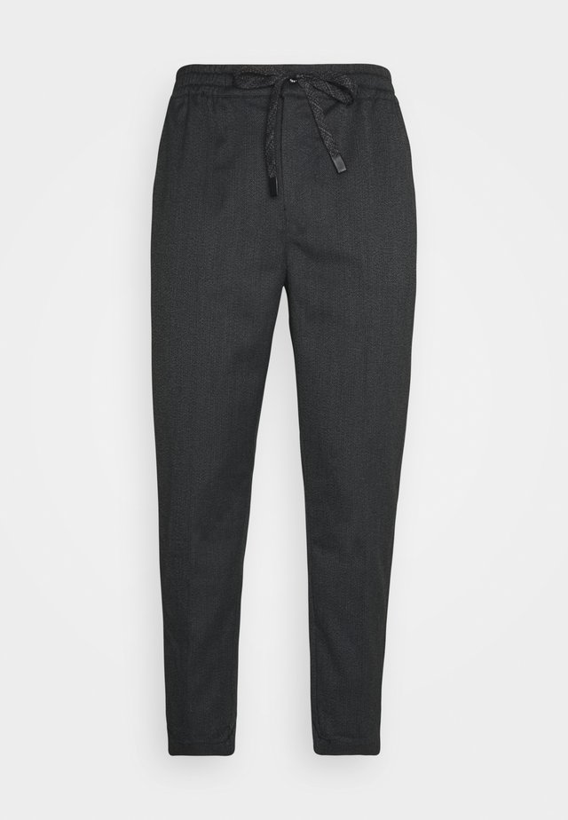 PYWAN BUTTON - Trousers - melange black