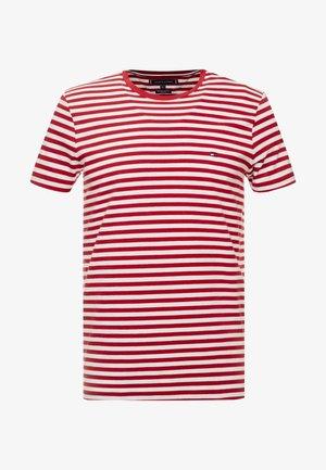 STRETCH SLIM FIT TEE - Basic T-shirt - rhubarb/bright white