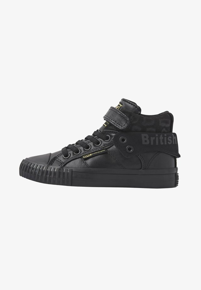 ROCO - High-top trainers - black/black leopard/black