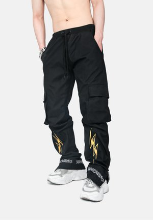 LIGHTNING  - Cargo trousers - metallic black