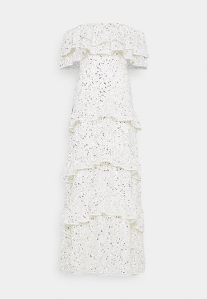 BARDOT ALL OVER SEQUIN MAXI DRESS WITH RUFFLES - Gallakjole - ivory