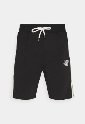 PREMIUM TAPE PLEATED SHORTS - Kraťasy - jet black/off white