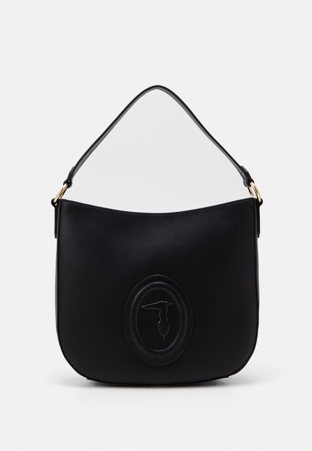 LISBONA SHOPPER LOGO - Tote bag - black