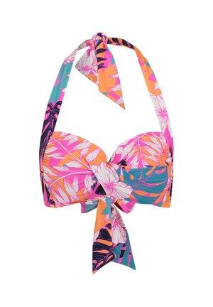 TWIST SOFT CUP HALTER - Bikini top - pink (315)
