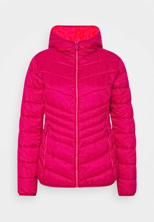 WOMAN JACKET FIX HOOD - Winterjas - magenta