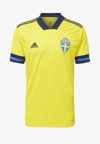 adidas Performance - SWEDEN SVFF HOME JERSEY - Landsholdstrøjer - yellow/indigo - 7